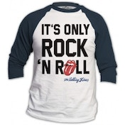 Rolling Stones Only Rock n Roll Mens White Raglan: Medium