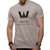 Justice League Movie - Wayne Aerospace Men's Small T-Shirt - Grey