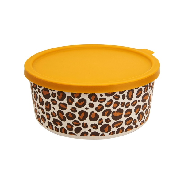 Sass & Belle Leopard Love Round Bamboo Lunch Box
