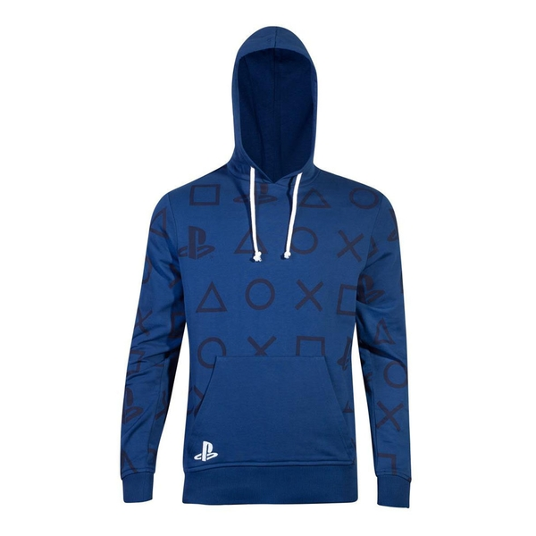 Sony - Icons All-Over Print Men's X-Large Hoodie - Blue