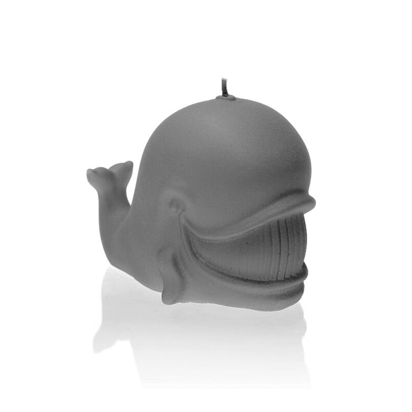 Gray Matt Whale Candle