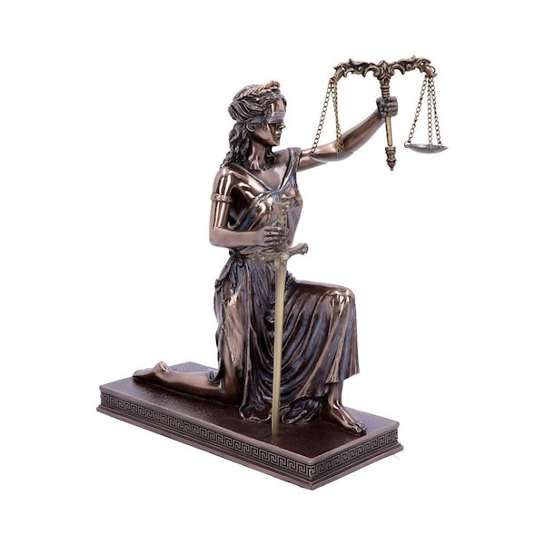 Lady Justice Bronze Ornament