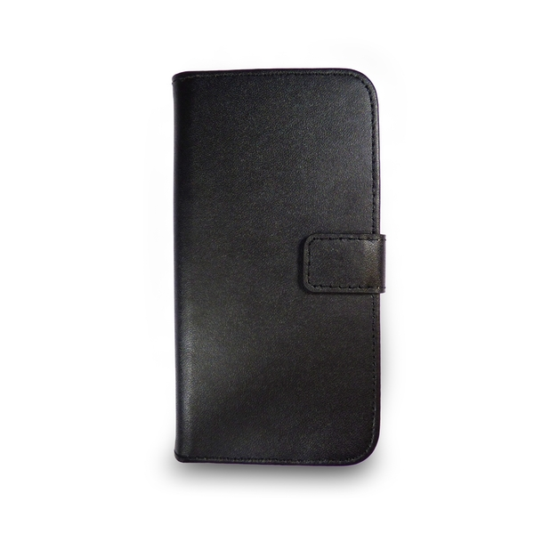 iPhone 5/5s/SE Black Leather Phone Case + Free Screen Protector Flip Wallet Gadgitech - Image 8