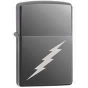 Zippo Lightning Bolt Design Black Ice Windproof Lighter