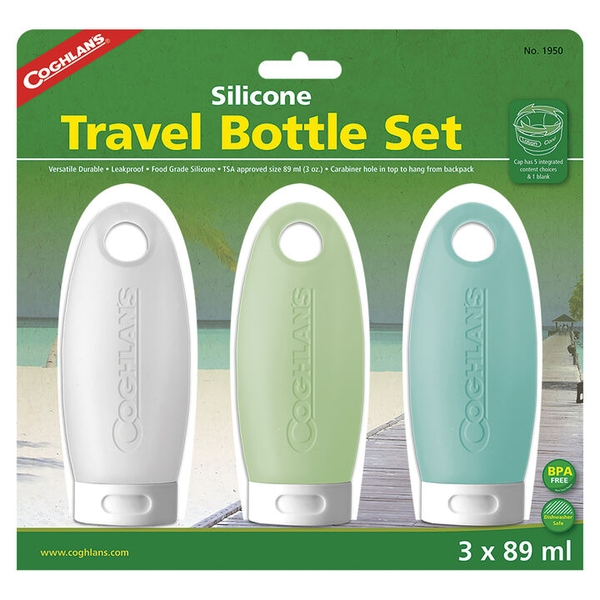 Coghlans Silicone Travel Bottles 89ml - Pack of 3