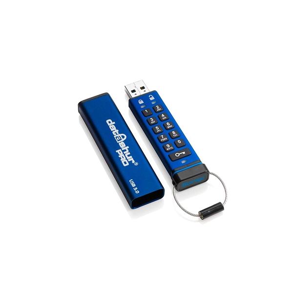 iStorage datAshur Pro 256-bit 16GB USB Flash Drive Blue
