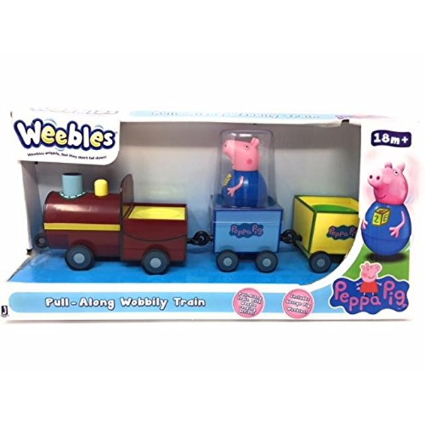 Peppa Pig Weebles Pull Along Wobbly Train