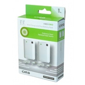 ORB Dual Charge And Play Battery Pack White Xbox 360
