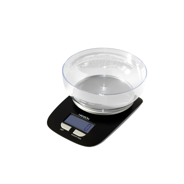 Terraillon Electronic Kitchen Scale With Transparent Bowl White 3kg