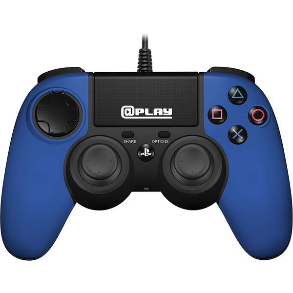 Officially Licensed Wired Controller Blue for PS4