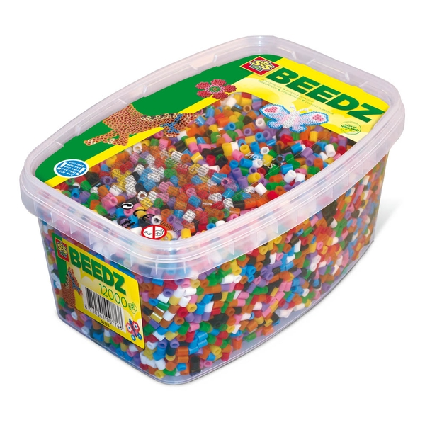 SES Creative - Children's 1200 Iron-on Beads Mosaic Box Tub (Multi-colour)