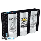 One Piece - Wanted Glasses (Set of 3)