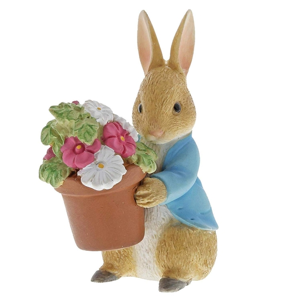 Peter Rabbit Brings Flowers Figurine