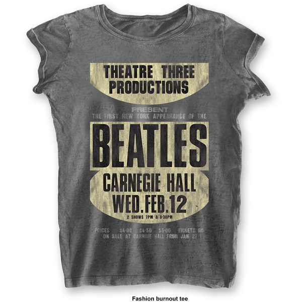 The Beatles - Carnegie Hall Women's X-Large T-Shirt - Grey
