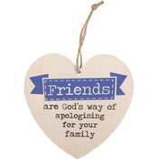 Friends Are God's Way Hanging Heart Sign