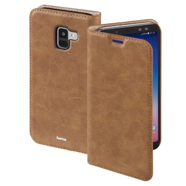 """Hama """"Guard Case"""" Booklet for Samsung Galaxy A8 (2018), brown"""
