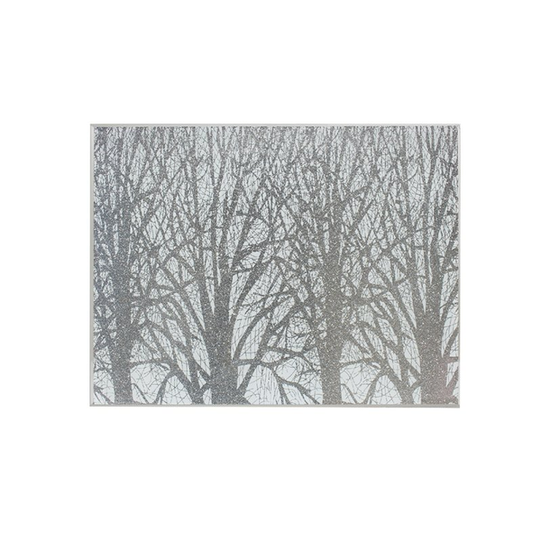 Silver Glass Woodland Set Of 2 Placemats By Lesser & Pavey