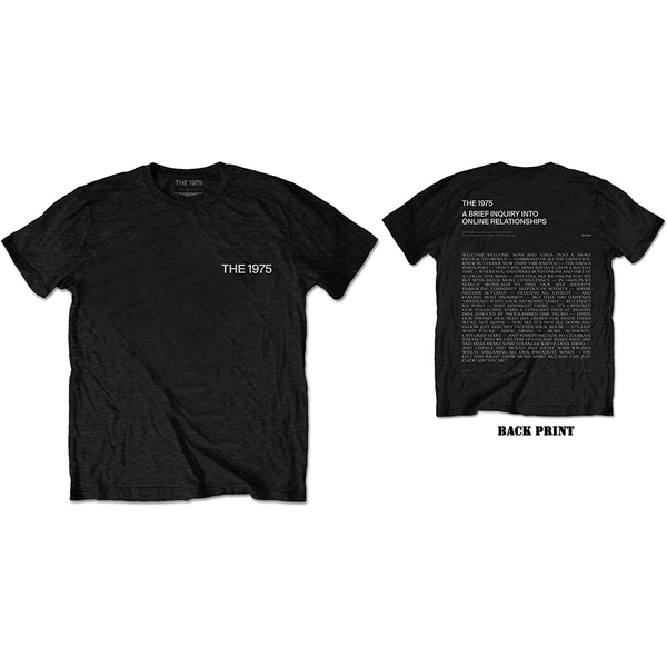 The 1975 - ABIIOR Wecome Welcome Version 2. Men's Medium T-Shirt - Black