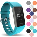 YouSave Fitbit Charge 3 Silicone Strap - Small - Cyan