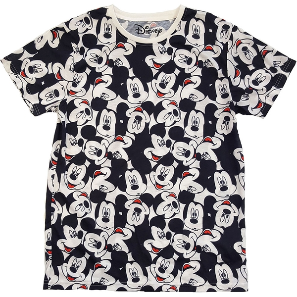 Disney - Mickey Mouse AOP Heads Unisex X-Large T-Shirt - White