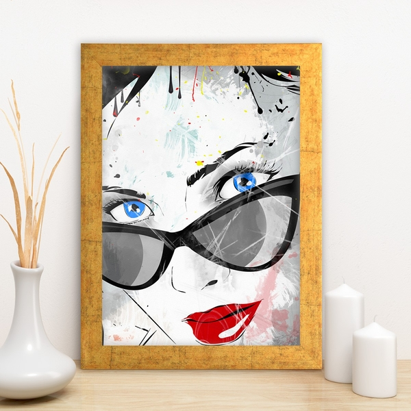 AC848730962 Multicolor Decorative Framed MDF Painting