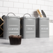 Stainless Steel Tea, Coffee & Sugar Canisters | M&W Grey - Image 4
