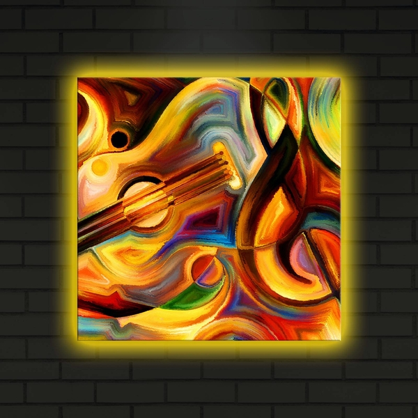 4040DACT-15 Multicolor Decorative Led Lighted Canvas Painting