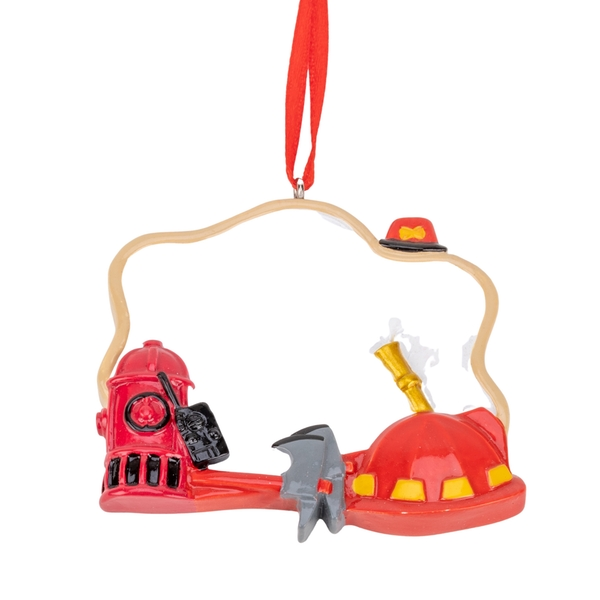 Personalisable Fire Fighter Ornament