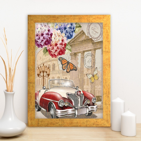 AC11115870594 Multicolor Decorative Framed MDF Painting