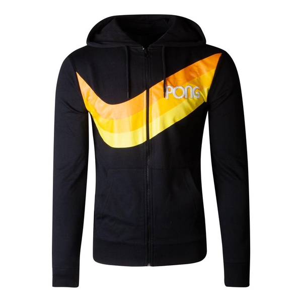 Atari - Pong Wave Stripe Men's X-Large Hoodie - Black