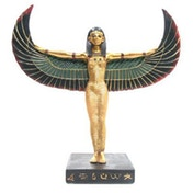 Gold Egyptian Winged Standing Isis Figurine