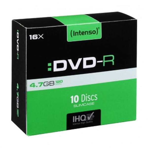 Intenso DVD-R, 4.7GB/120 Minutes, 16x Speed, Single Layer, Slim Case 10 Pack