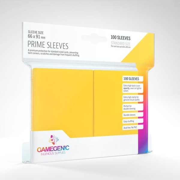 Gamegenic Prime 100 Sleeves Yellow