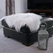 Faux White Sheepskin Rug | M&W - Image 2