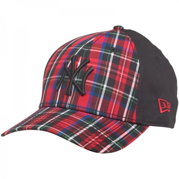 Hey! Stay with us... New Era MLB 9Forty Plaid New York Yankees Strap Back  Cap ... 71195de732c