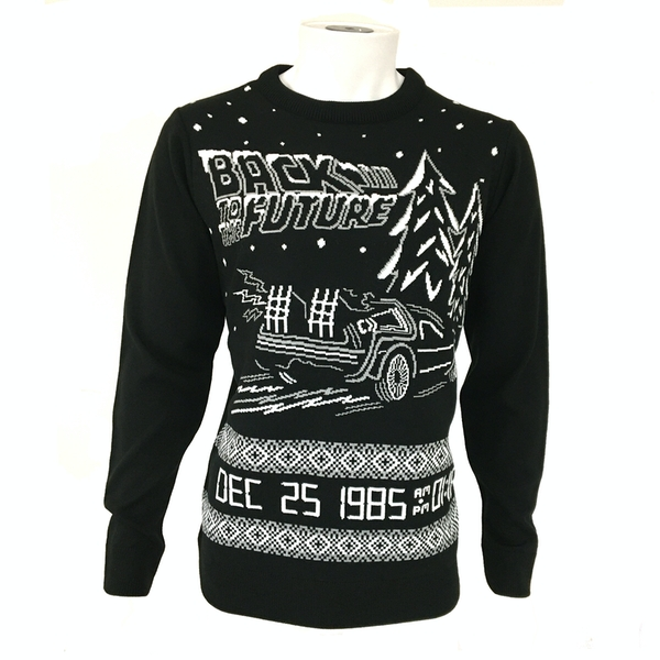 Back to the Future Unisex Christmas Jumper Large