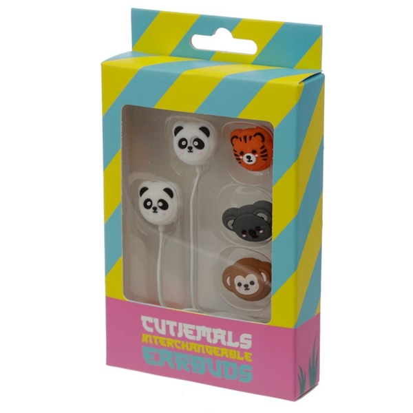 Cutiemals Set of 4 Interchangeable Earbud Earphones