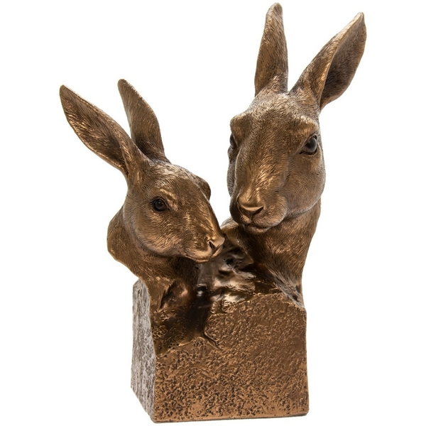 Reflections Bronzed Hare Bust Ornament By Lesser & Pavey