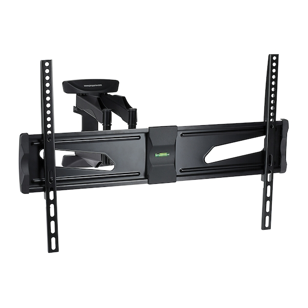 ProperAV Swing Arm Wall TV Bracket Black 3-7 inch Black