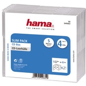 Hama SlimLine 4 CD Jewel Case, transparent