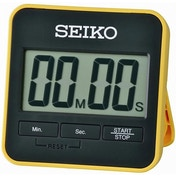 Seiko QHY001Y Digital Countdown Timer and Stopwatch Yellow