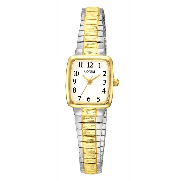 Lorus RPH58AX9 Ladies Gold Plated Two Tone Expanding Bracelet Watch