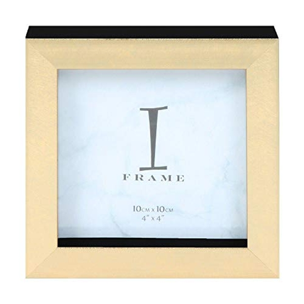 "iFrame Plastic Gold Instagram Photo Frame 4"" x 4"""