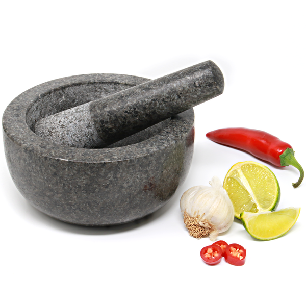 Large Granite Pestle and Mortar Set - 16cm Diameter | M&W - Image 1