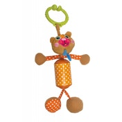 Oops Multi-Textured Soft Rattle Toy for Car Seat and Pushchair in Cute Bear Design