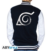 Naruto Shippuden - Konoha Men's Large Jacket - Navy/White