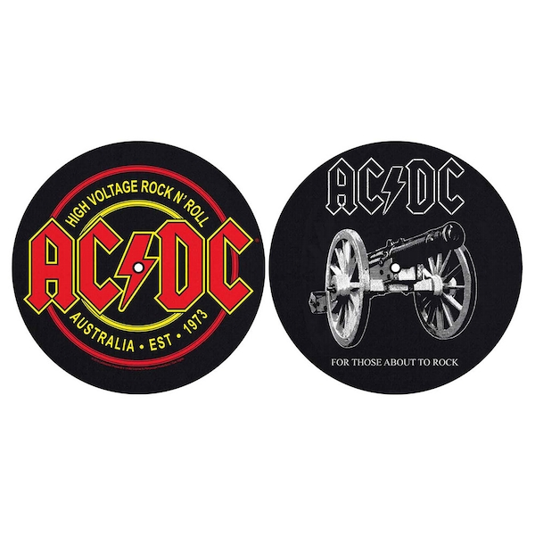 AC/DC - For Those About To Rock/High Voltage Turntable Slipmat Set