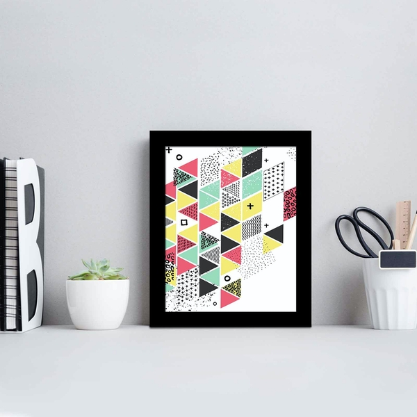 SCT-065 Multicolor Decorative Framed MDF Painting