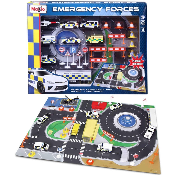 Fresh Metal Emergency Force Playset With Playmat