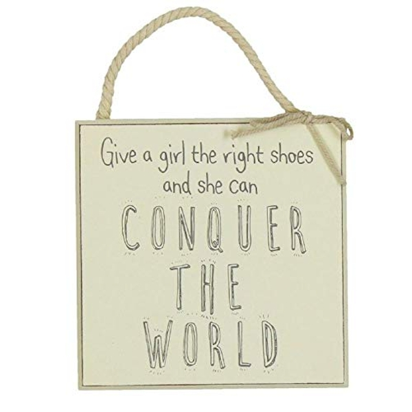 Love Life Conquer The World Wall Plaque